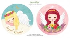 Secretkey angel cushion package illust