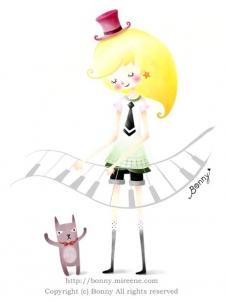 피아노 소녀