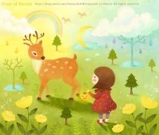 사슴과소녀