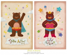 Superman bear & Wonder Woman bear